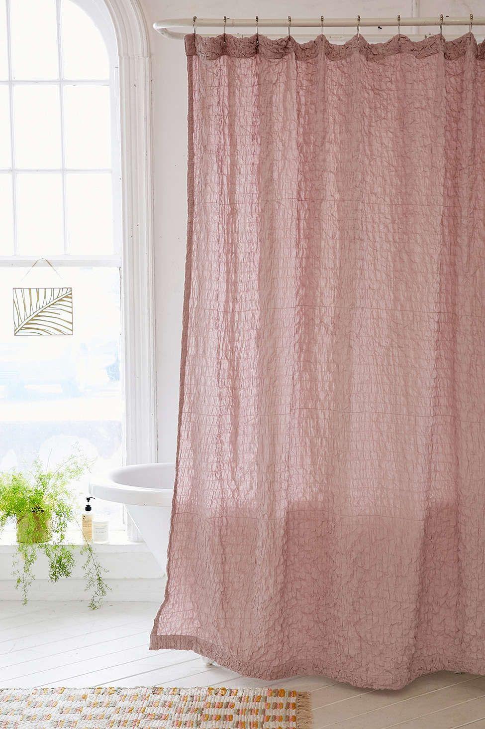Popcorn voile shower curtain bathroom pinterest interiors