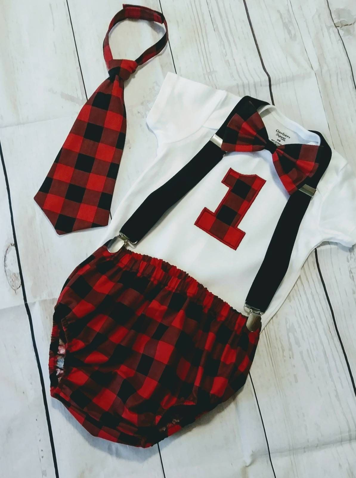 Lumberjack first birthday outfit, boy smash cake outfit