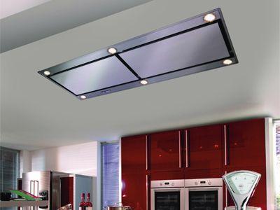 Milieuvriendelijke recirculatiedampkap van boretti keuken design