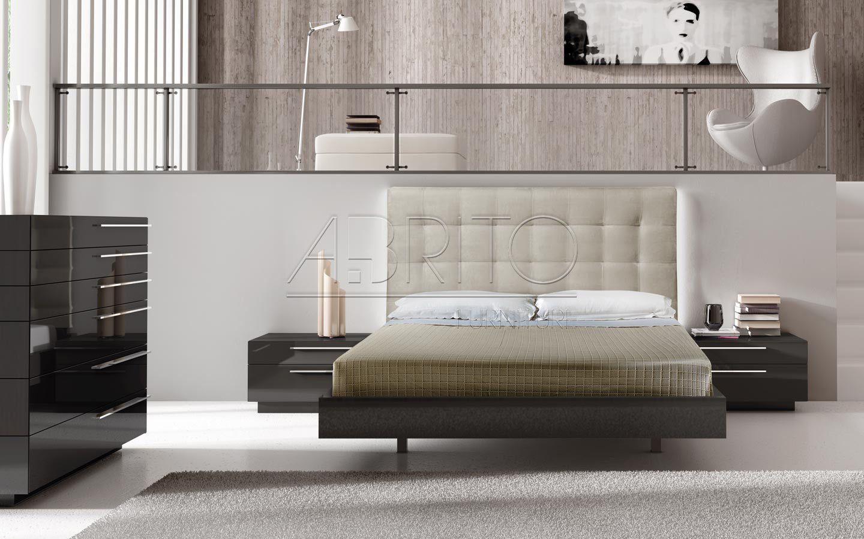 cama doble moderna con cabecera select 01c a brito