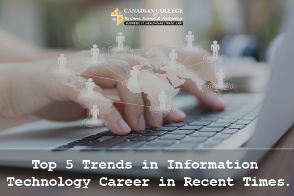 Top 5 Trends In Information Technology Career In Recent Times If You Love Technology And Curious To Expl Technology Careers Information Technology Technology