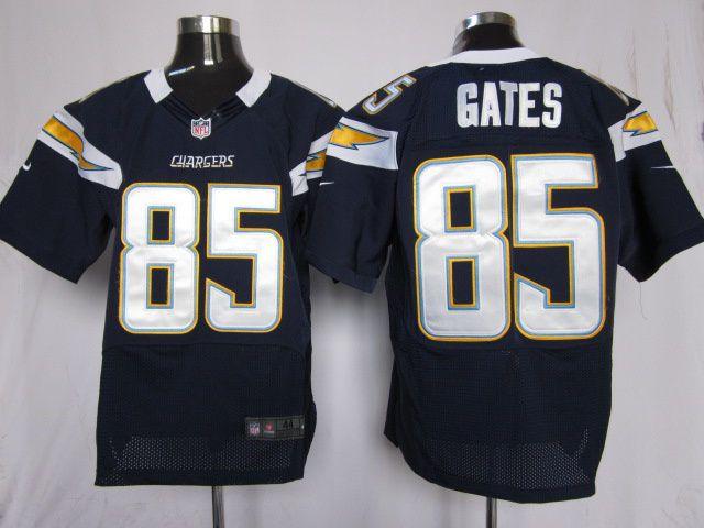 d7b99ffa9 Mens Nike NFL San Diego Chargers  85 Antonio Gates Dark Blue Elite Jerseys