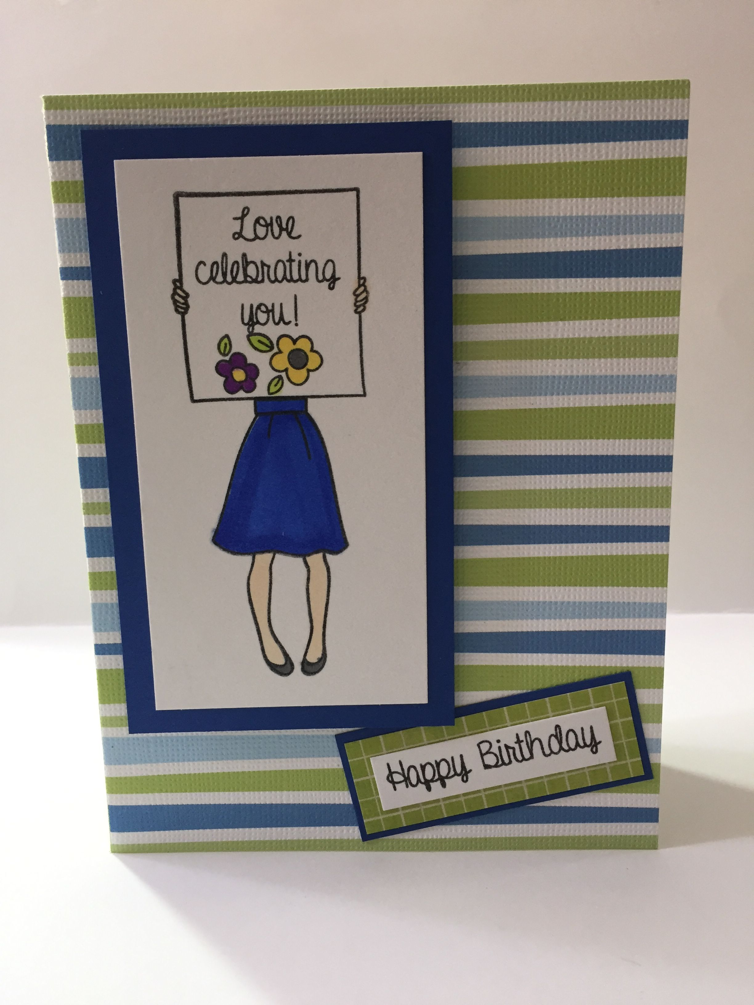 Su Hand Delivered Hand Stamped Cards Stamped Cards Happy Birthday Cards