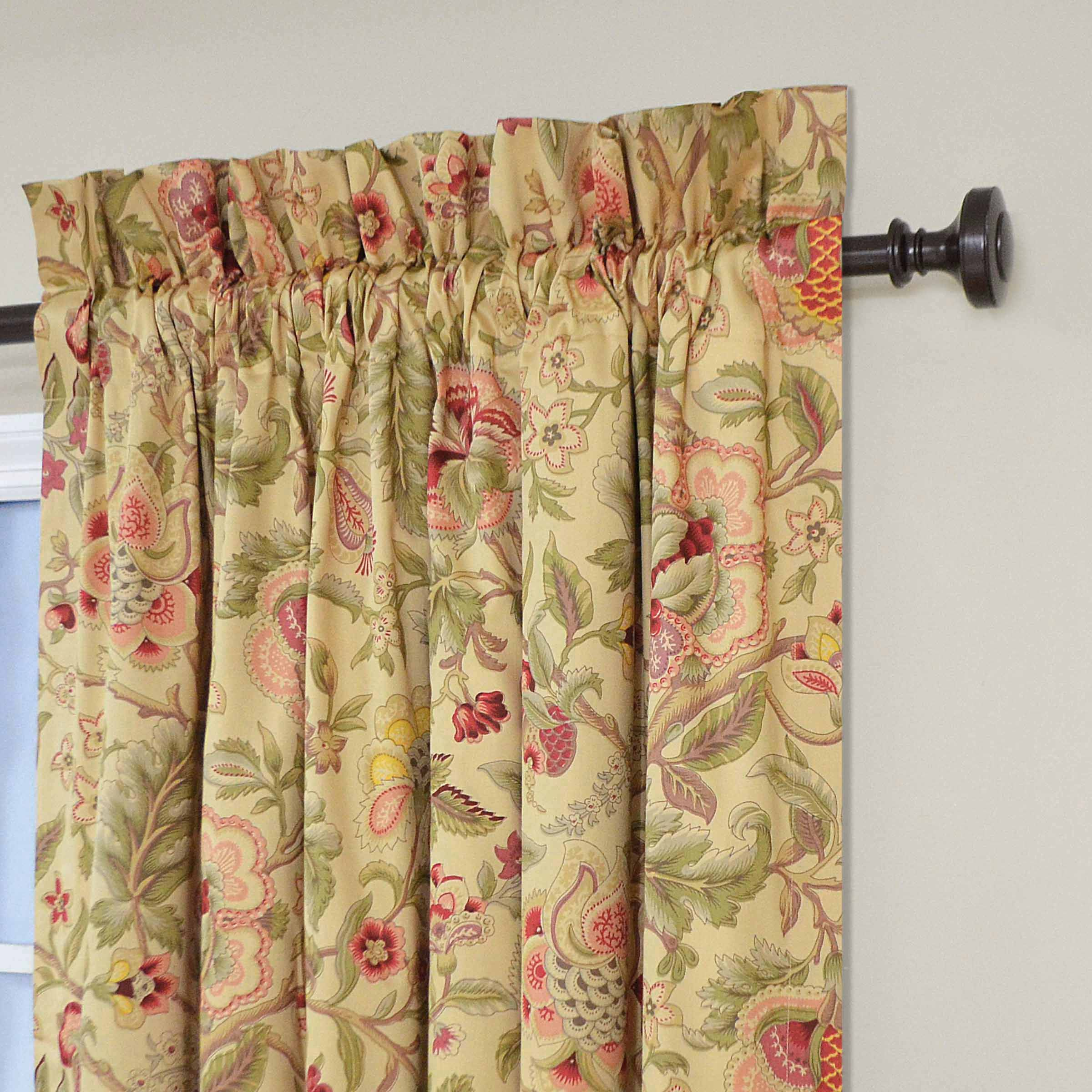 Waverly Imperial Dress Antique Curtain Panel Walmart Com In 2021 Floral Room Rod Pocket Curtains Curtains