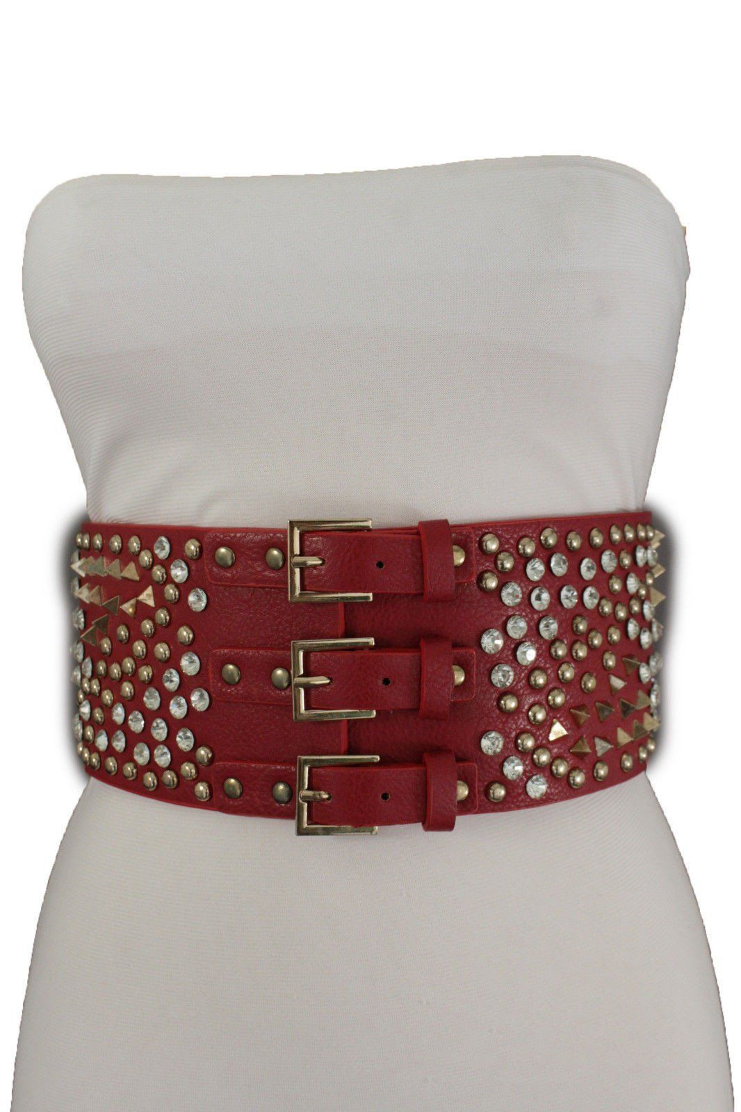 286bf5650 Trendy Fashion Unique, Chic Jewelry Accessory High Waist Belt - Spike Stud  Bead 3 Buckles Corset There Are 3 Colors To Choose From You Are Buying One  Belt: ...