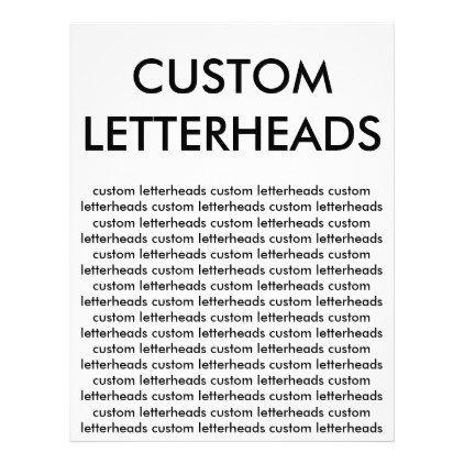 Custom Personalized Letterheads Blank Template Letterhead - create