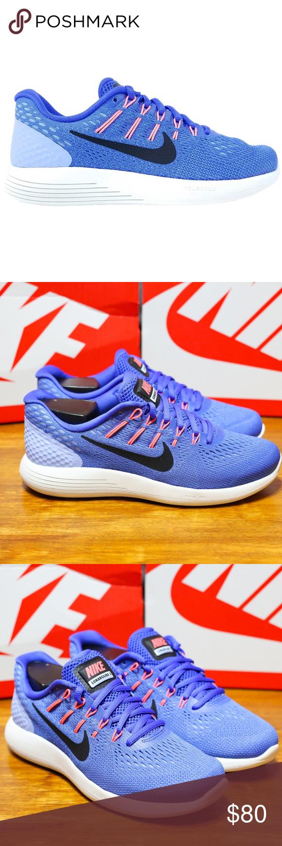 d3702c990e3e Nike Womens LunarGlide 8 Medium Blue AA8677-406 Nike Women s LunarGlide 8 - Running  Shoes