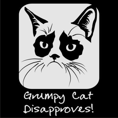 Grumpy Cat Vector Files For A Car Decal Or Whatever Else You Might - Vinyl decal cat pinterest