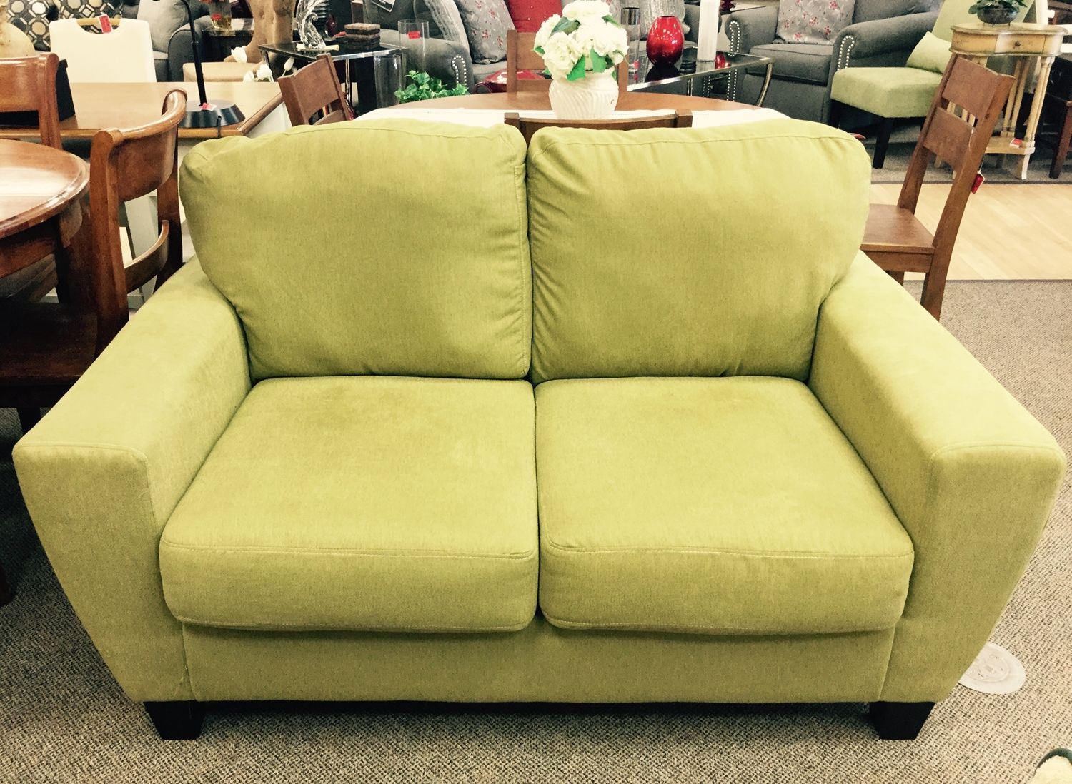 Fresh Deals Keep Rolling Into All Weekend Long At New Uses Very Clean Lime Green Sagen Sofa From Ashley Furniture Measuri Ashley Furniture Furniture Love Seat