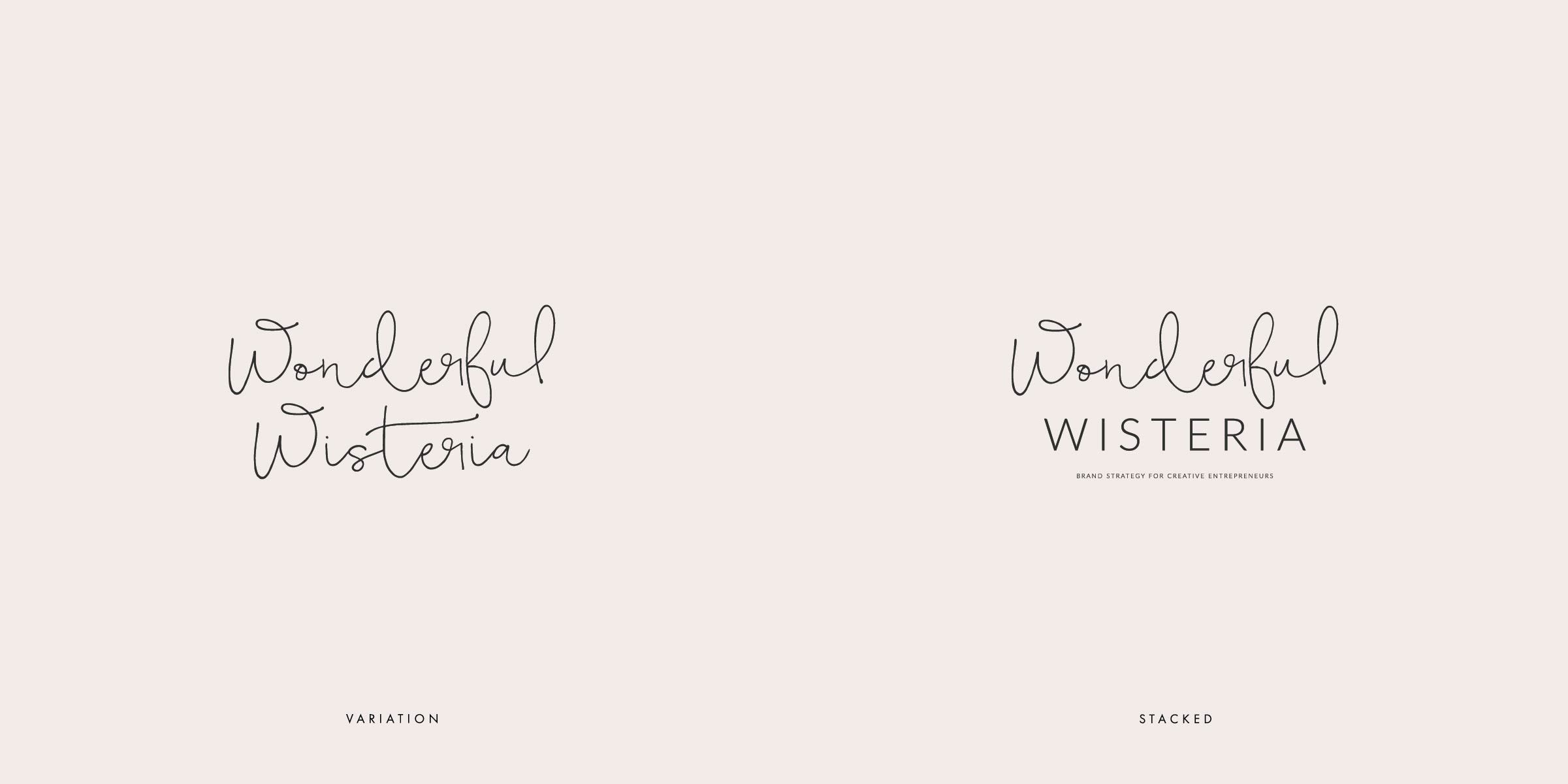 Wonderful Wisteria Blog Logo Identity Package, wordpress theme, mood board inspiration, blog design idea, graphic design, branding, style blog, fashion, food blog design, food blog logo, style blog logo