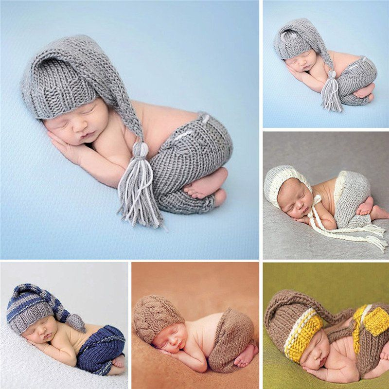Handmade Knitting Soft Hat Pants Set [For 0-4 Months]