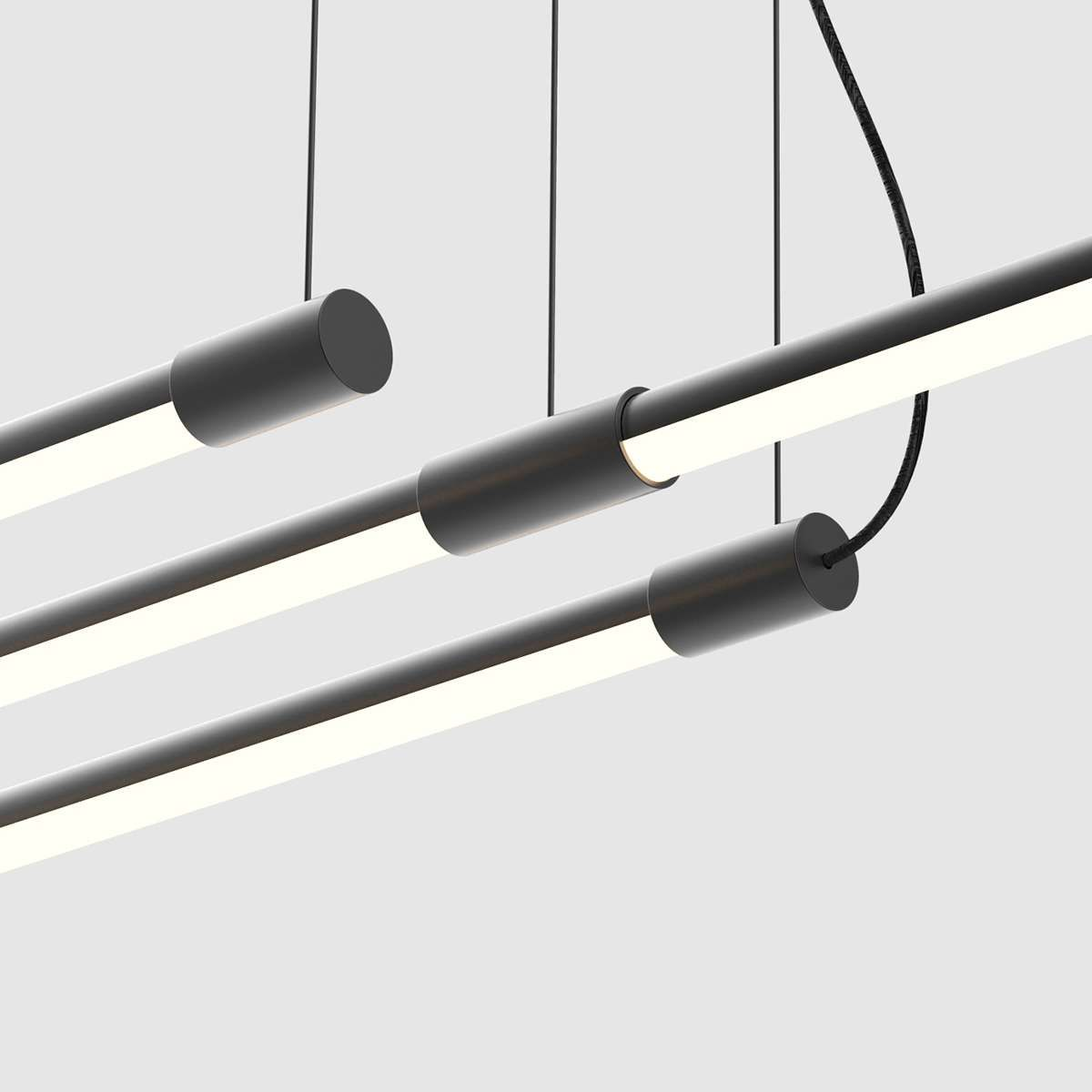 Concrete Brass Linear Suspension Thin Led Linear Suspension Light By Juniper Designs Suspension Light Linear Lighting Glass Light Fixtures
