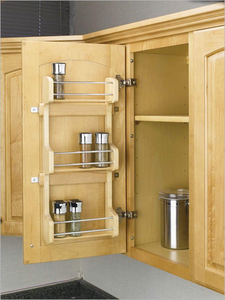 Organizing Kitchen Cabinets Ideas Door Mounted Spice Rack Diy Kitchen Storage Wall Accessories