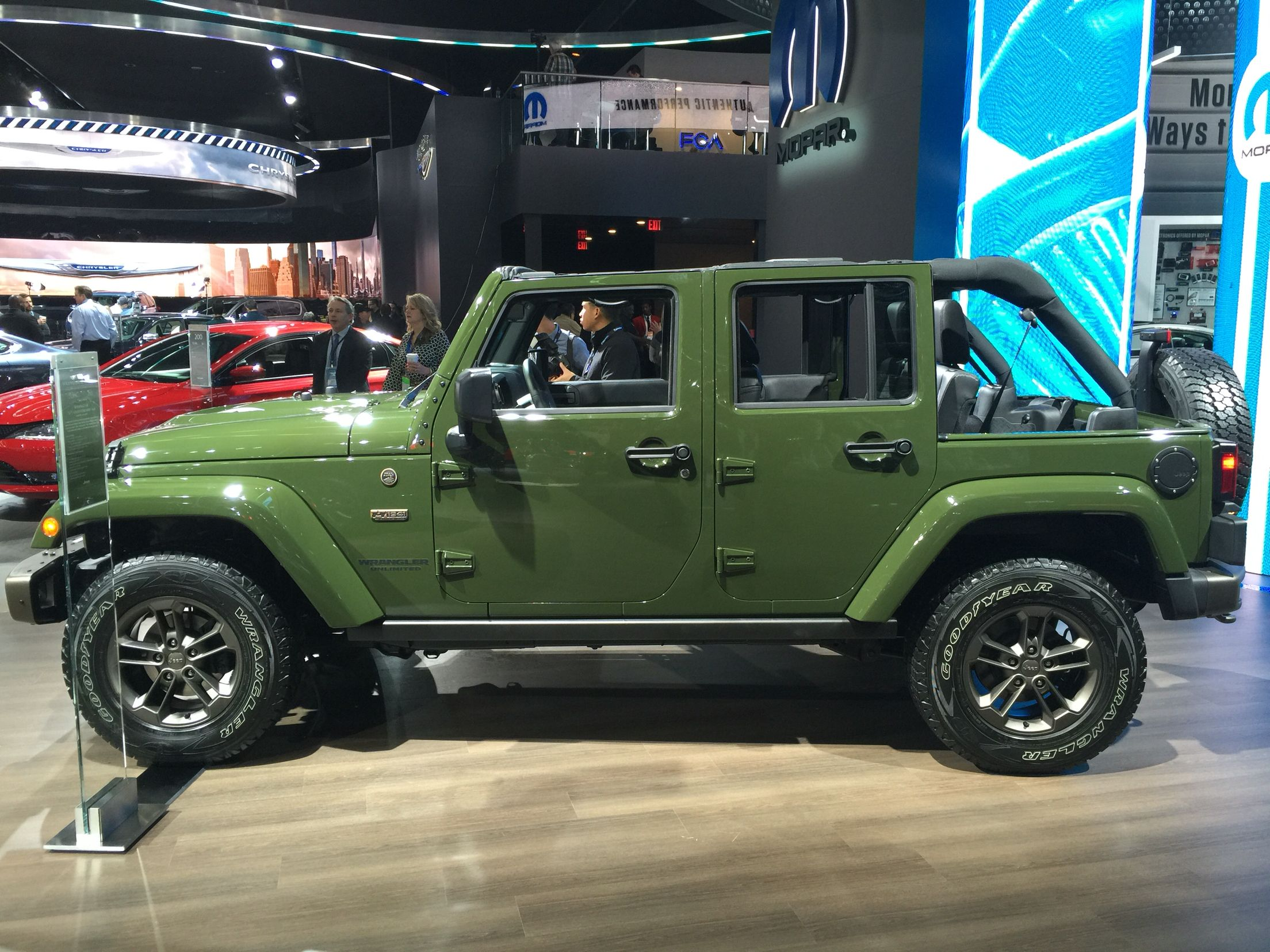 Sarge green 2016 jeep wrangler 4 door