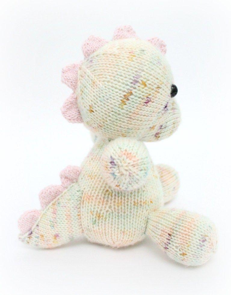 f0ed2aac1 Free Knitting Pattern - Daisy the Baby Dino PDF Knitting Pattern - Hello  Dolly Knitting