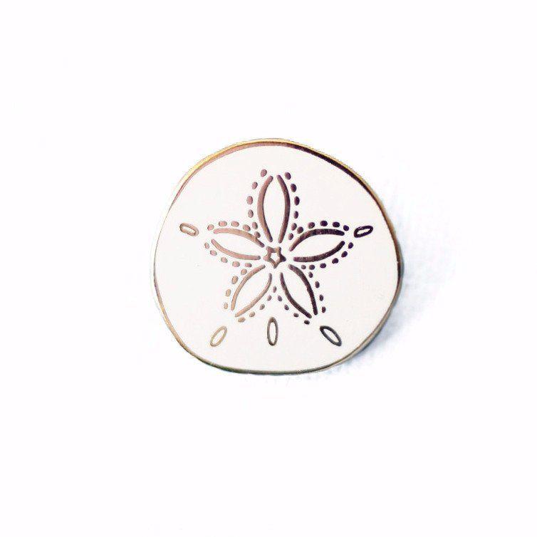 0e3fbc41c Sand Dollar Enamel Pin | jean jacket | Jacket pins, Lapel pins, Pin ...