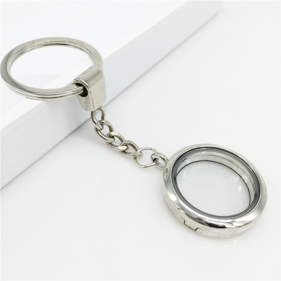 keychain listing style stainless key chain zoom il steel charm silver floating large fullxfull lockets