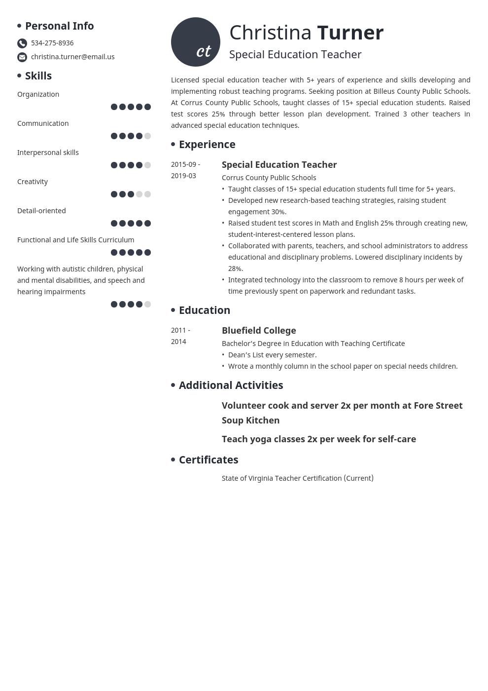 18+ Best objective for resume for teacher Examples
