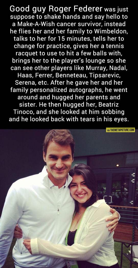 She beat cancer, made a wish, and met her idol… Faith in humanity restored