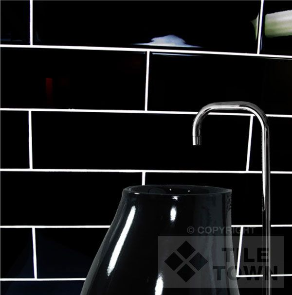 I really like the black brick with white grout apartment pinterest black brick kitchen - White brick tiles black grout ...