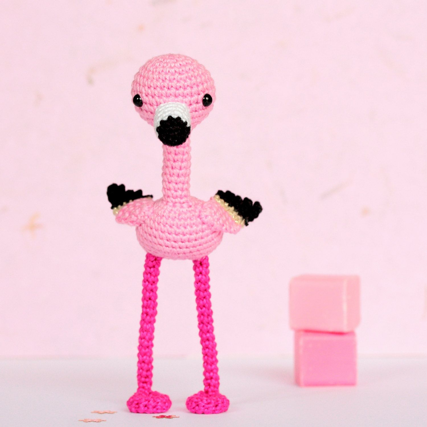 D co flamingo amigurumi flamant rose d co flamand rose par for Deco flamant rose
