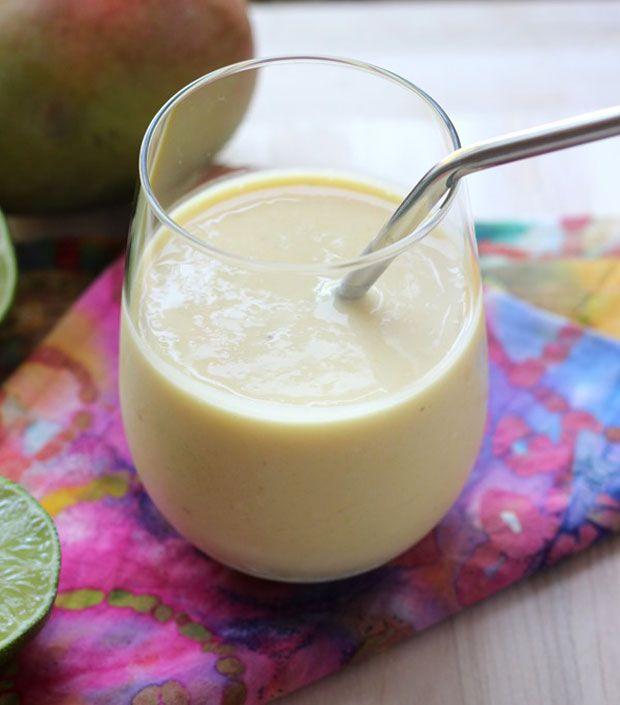 Coconut-Lime & Mango Smoothie Recipe - RecipeChart.com