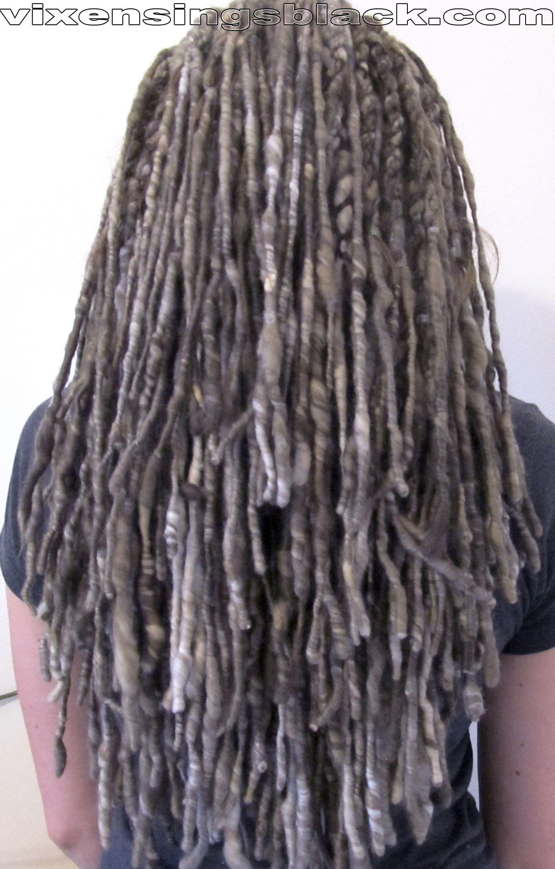 Vixensingsblack True Ash Yarn Extensions Spun By Livethehappy Of