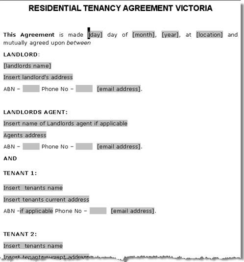 Printable Sample Rent Agreement Form Form Real Estate Forms Word - lease document template