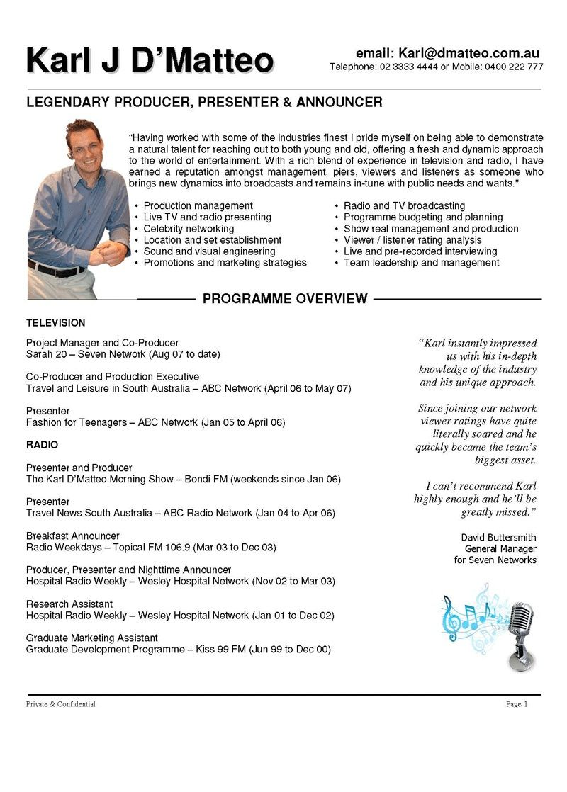 presenter resume examples  780    topresume info