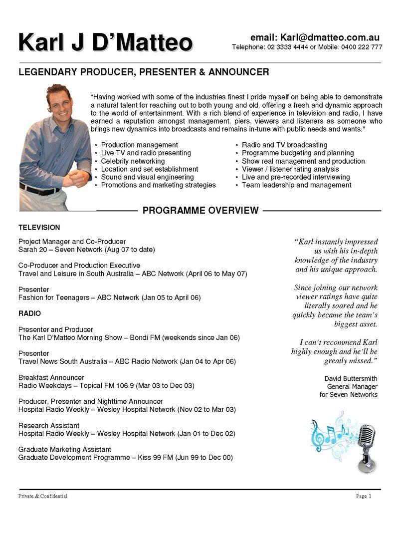 Presenter Resume Examples #780 - http://topresume.info/2014/11/30 ...