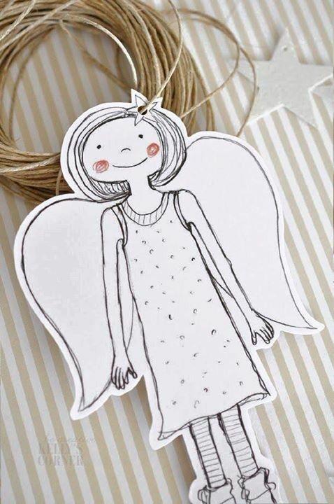 Weihnachtsbaumanhanger engel