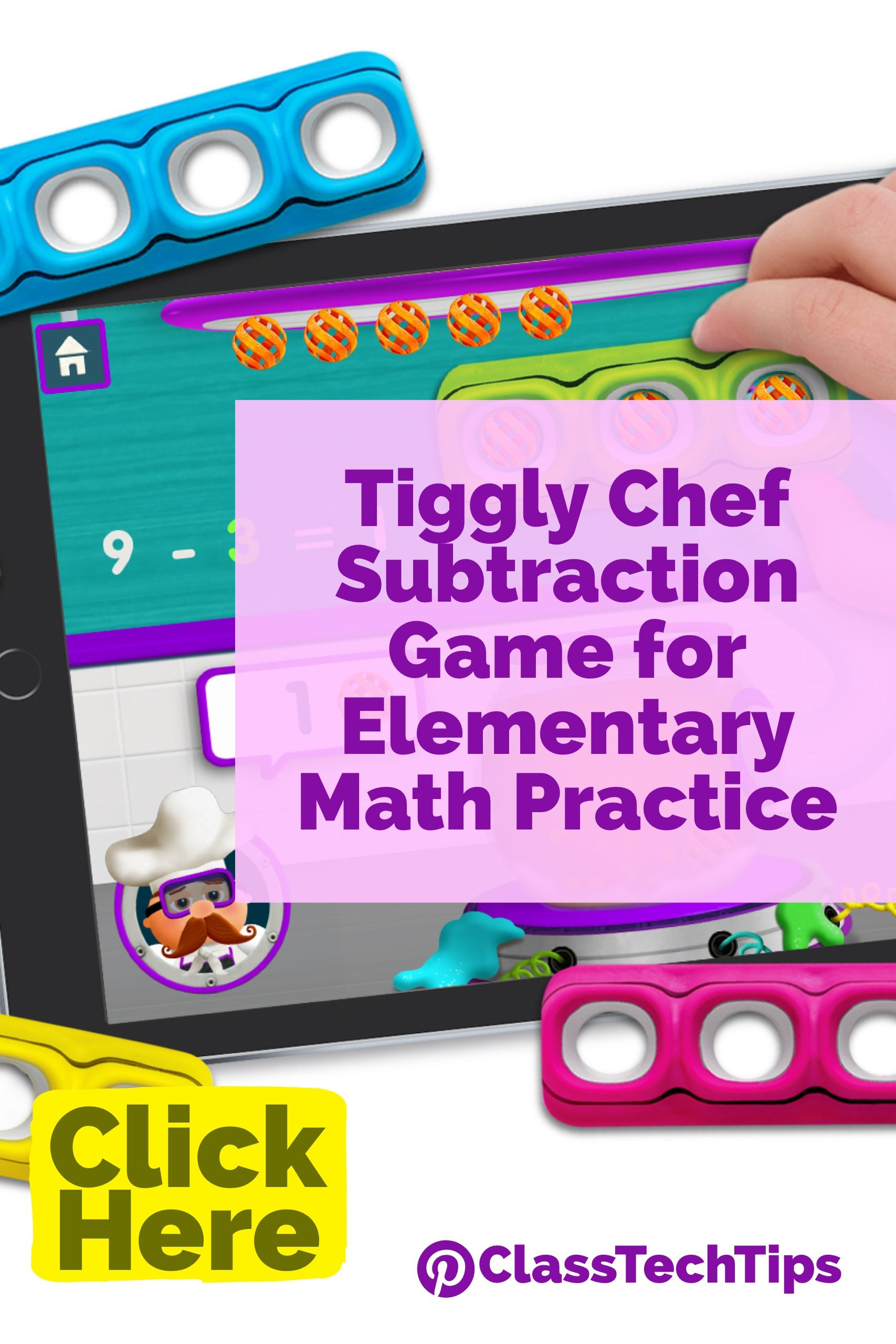 Tiggly Chef Subtraction Game for Elementary Math Practice