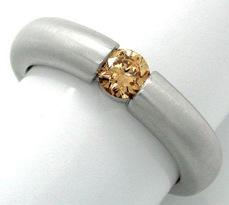 Foto 1, Neu! Brillant-Spann-Ring 18K Goldbraun Luxus! Portofrei, S8709