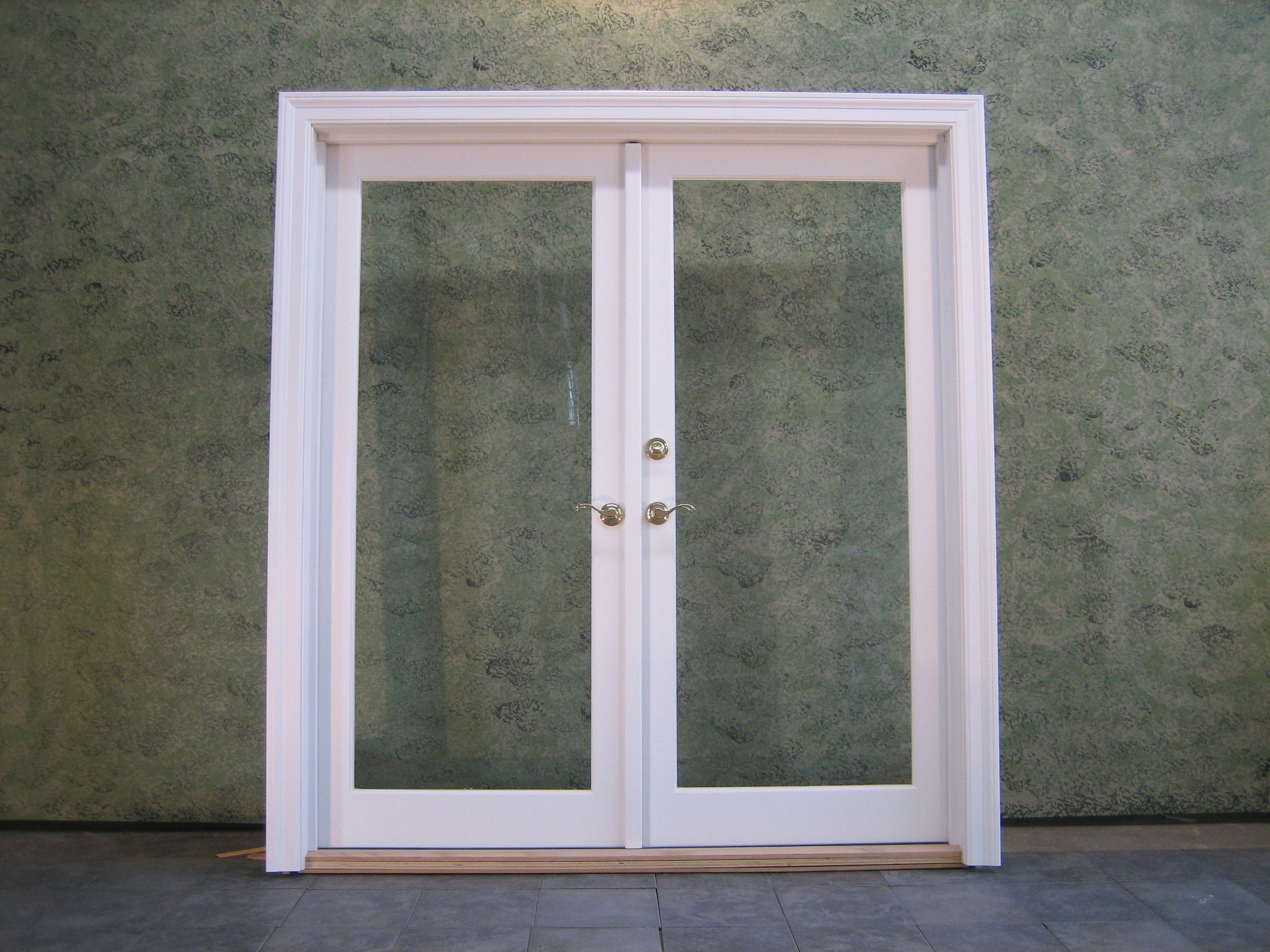 Exterior French Doors With Screens Sliding Door One Lite Active Right Hand From Interior View