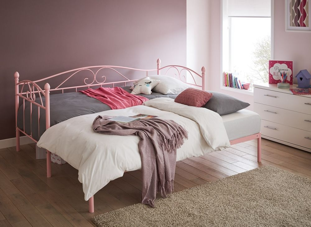 Kylie Metal Day Bed With PullOut Bed Ikea bed, Pull out