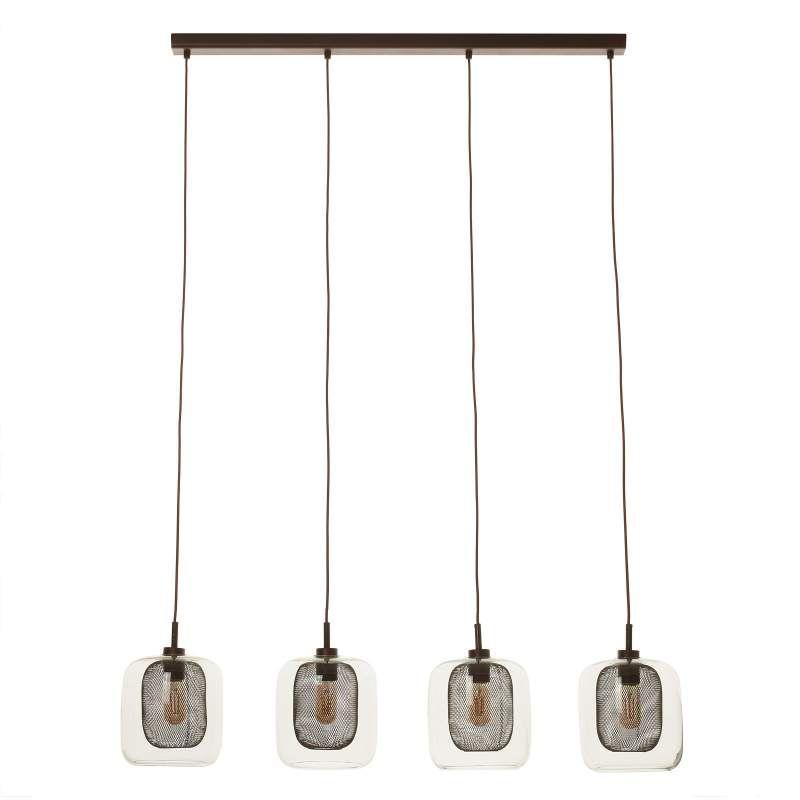 4 Flammige Hangeleuchte Fox Mit Doppelschirmen Hangeleuchte Lampen Pendelleuchte Esstisch