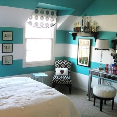 Room Design Ideas For Teenage Girl teen girls room gray striped walls black and white bedding Teen Girls Room Design Ideas Pictures Remodel And Decor Page