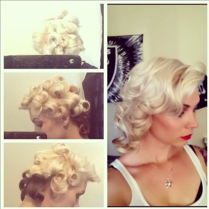 Marilyn Monroe Inspired Hairstyle How To Vintage Pinup Hair Blonde