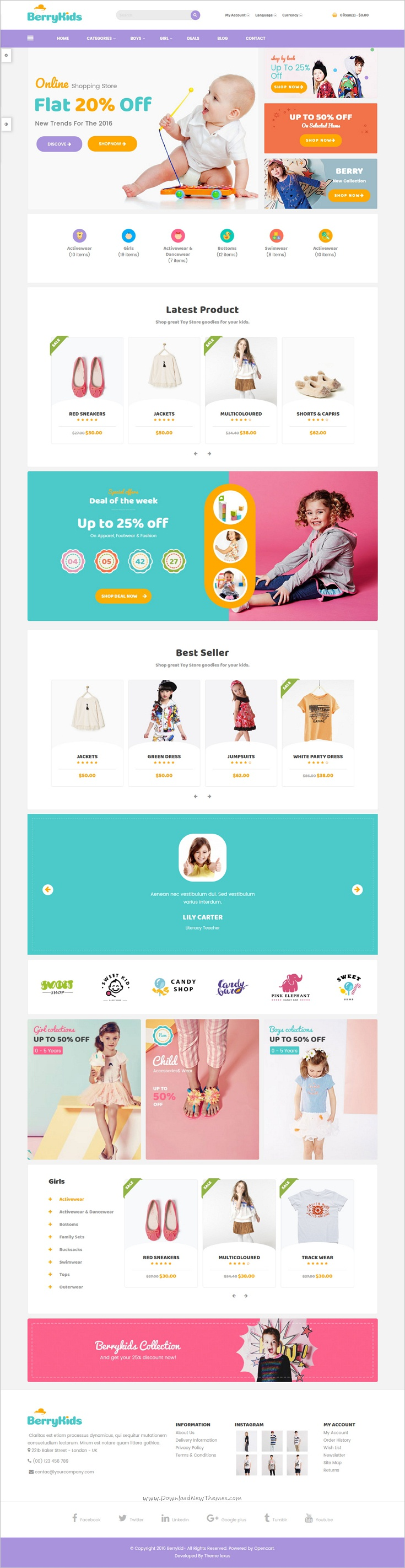 Lexus Berrykid Kid shop Opencart theme