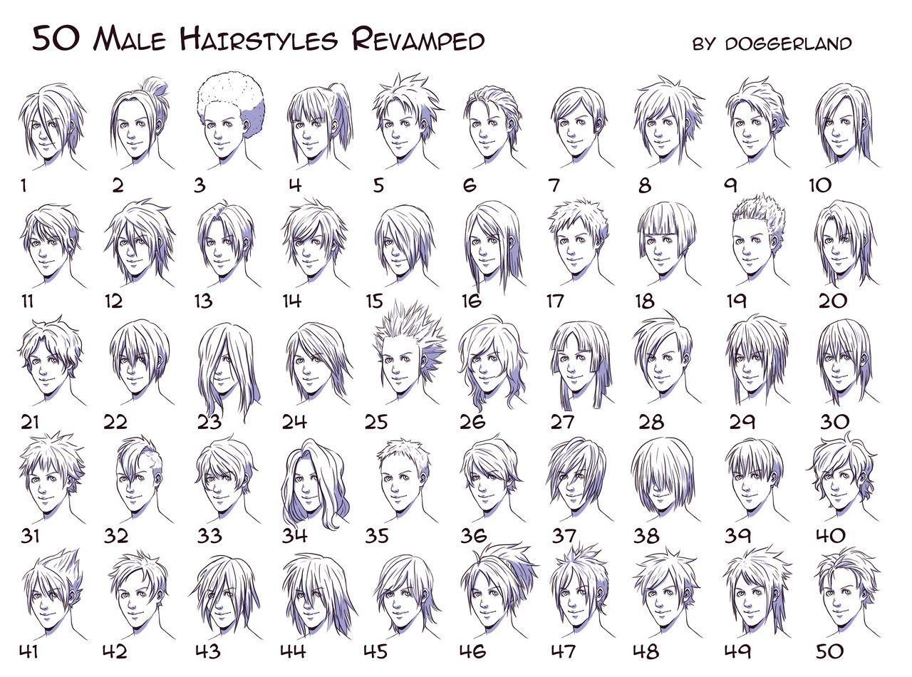 Male manga hair ideas Anime boy hair, Manga hair, Drawings