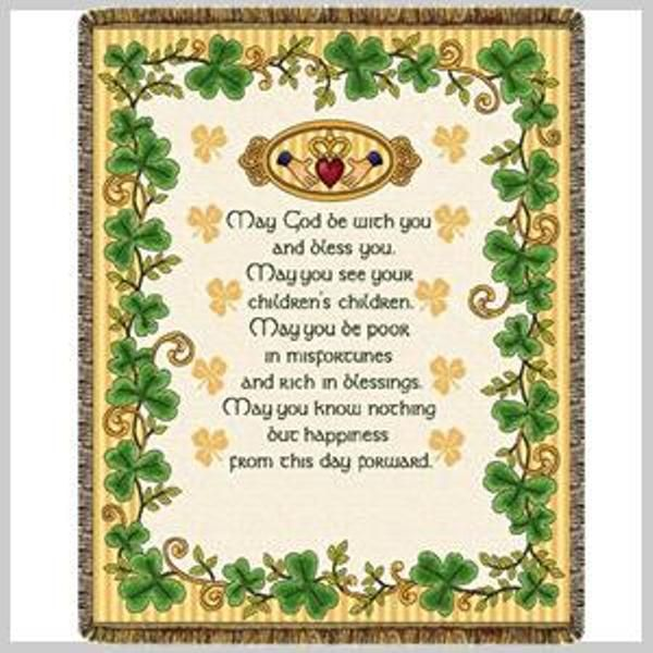 Adorned With Its Colorful Shamrock Border And Traditional Claddagh Design This Irish Wedding Blessing