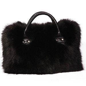 Multicolor Real Fox Fur Bag for Women with Single Strap Messenger Tote  Handbags Ladies Fur Shoulder 60e6298e27de9