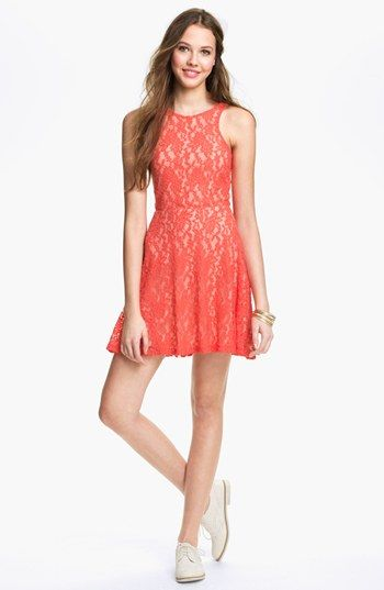 2858cb7f787c Mimi Chica Sleeveless Lace Skater Dress (Juniors) available at  Nordstrom   Mary G Echeverry