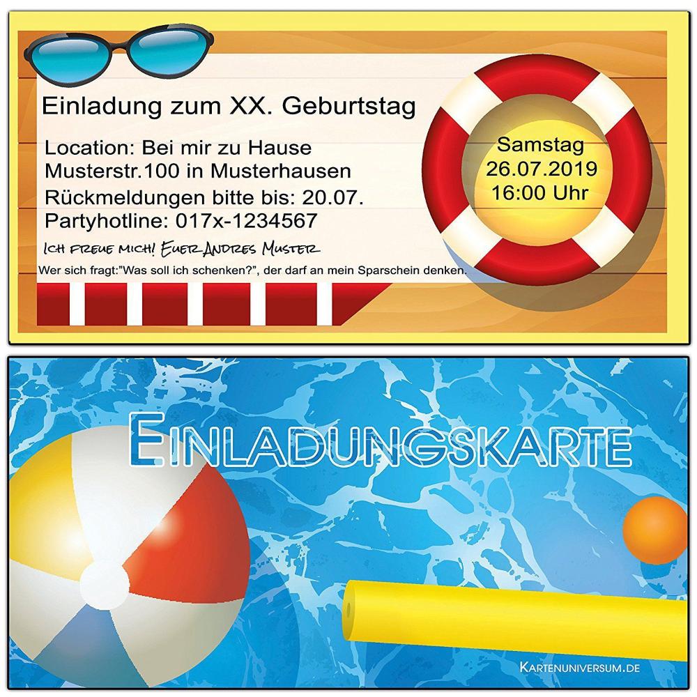 einladungskarten schwimmbad zum ausdrucken
