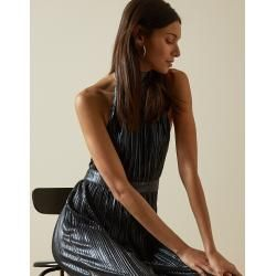 Photo of Metallic jumpsuit with halter neck and back cut Ted BakerTed Baker