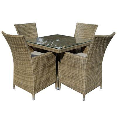 Debenhams Light brown rattan-effect 'LA' square table and ...