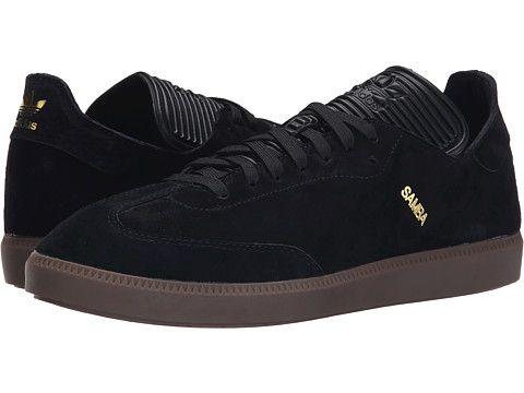 adidas Originals Samba MC Leather Black/Black/Gold Metallic - Zappos.com Free Shipping BOTH Ways