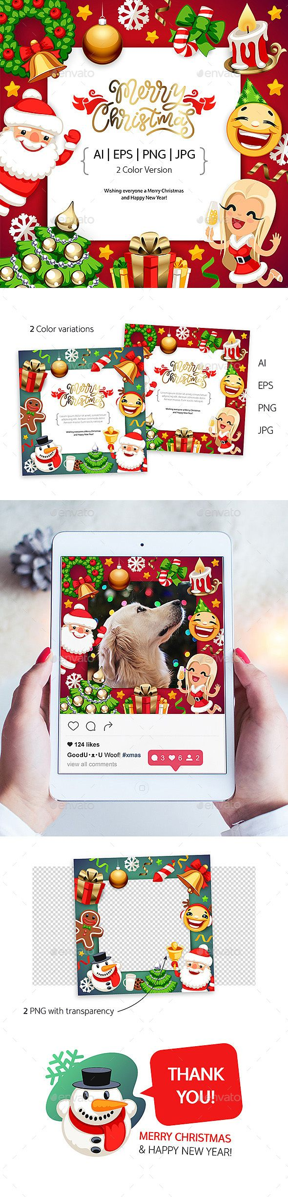 Merry Christmas Background with Copy Space Merry