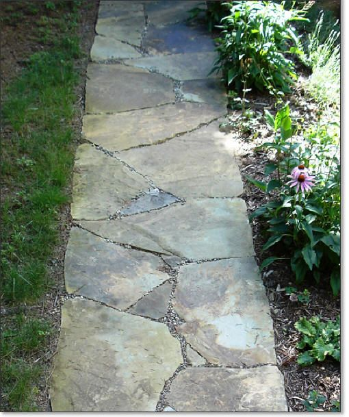 flagstone pathway landscaping hardscaping pinterest