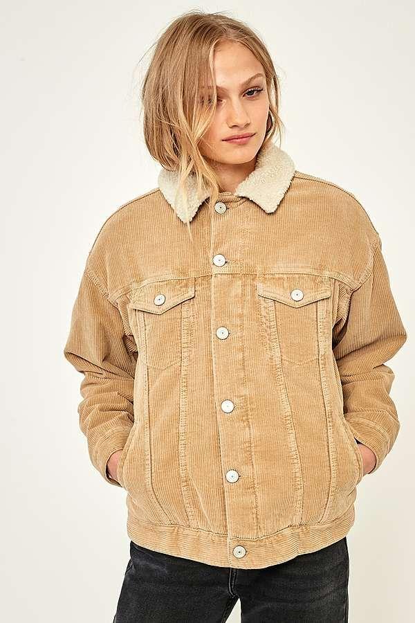 BDG Western Borg Lined Sand Corduroy Jacket | Denim jacket